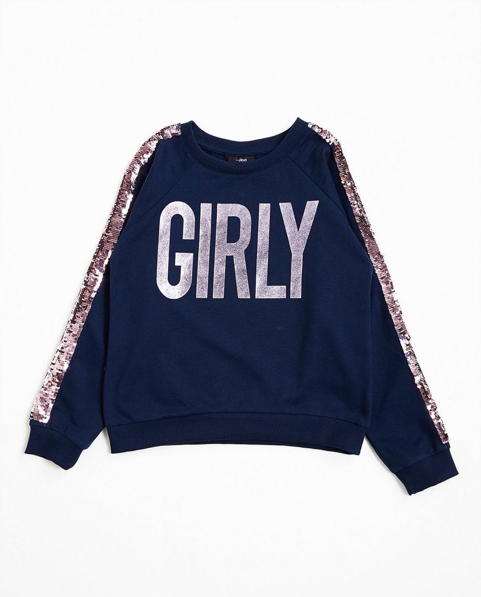 Sweater met pailletten - in nachtblauw - JBC
